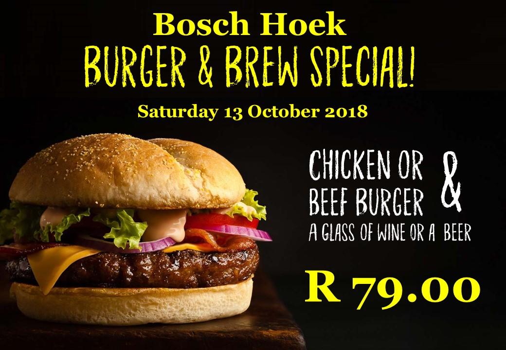 Burger & Brew Special