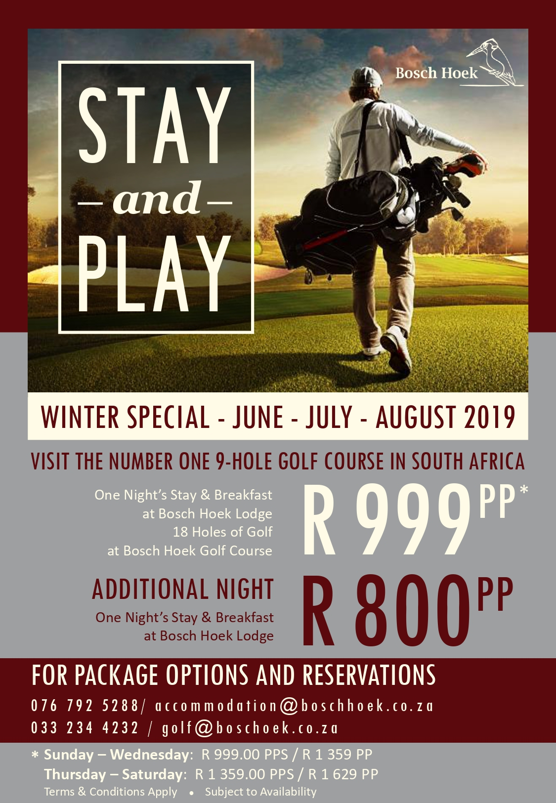 2019 Winter Stay & Play - Advert