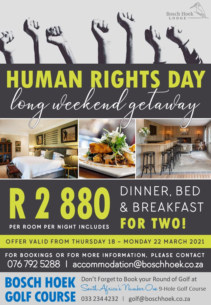 2021 Human Rights Day Long Weekend Advert