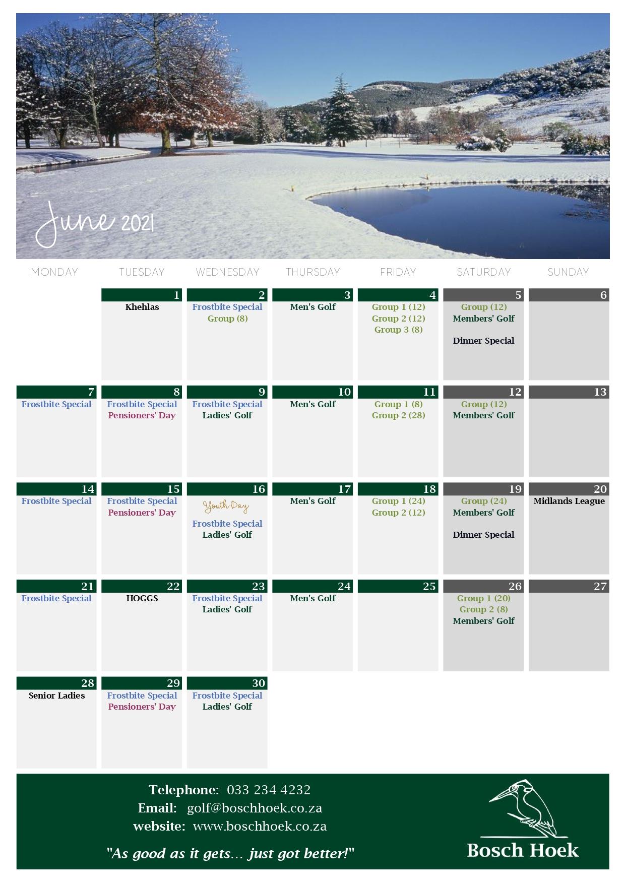Bosch Hoek Golf Course - 2021 June Calendar_page-0001